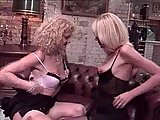 Two Blonde Kitties Swallowing Fresh Cum