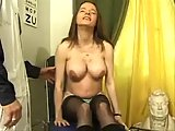 Pregnant slut analed by her doctor