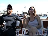 Jessi enjoys outdoor interracial sex