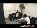 Amateur asian fun in an office