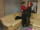 Red Hair Housewife Ridding on Stout Cock
