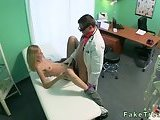Blonde drilled by doctor in his office!