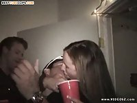 College threesome sex party