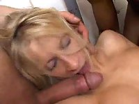 Great hardcore with piss for blond whore