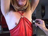 Nipple torture pain for Tgirl