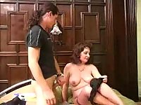 Cute Mom Spreading Legs For Drilling