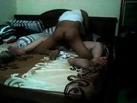 Interracial Amateurs Fucking In A Bedroom