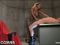 Dirty slave fucked by black tranny