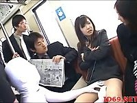 Japanese fucked in a train