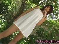 Pretty asian gal Ayumi Ayukawa has big tits