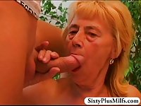Teen boy fucking old slut
