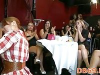 Girls hire strippers for a hot birthday party