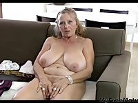 64yr Old Hairy Busty Mature Isabel Shows All Her Stuff