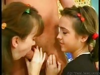 Devochki I Dyadya teen amateur trio