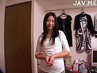 Asian girl shows her lingerie