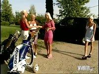 Blonde Orgy At Golf Club