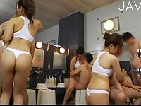 Japanese group sex scene 4