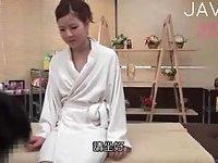 Petite small tits Jap gal massaged