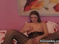 Teen Shemale Masturbating
