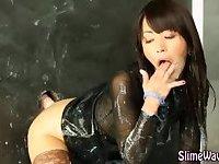 Asian wam skank fucks