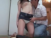 School girl drills by her teacher 07