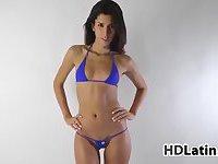 Latin Babe Modeling Bikinis