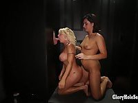 Chloe and Gina perform in the gloryhole