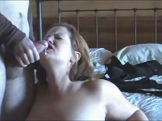 Plump wife saddled horny husband!