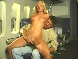 Blond hoe serving dude in airplane at passionclips.com