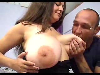 Busty hoe gives titjob and gets fuck
