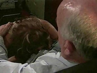 Girl gets her anus drilled in office
