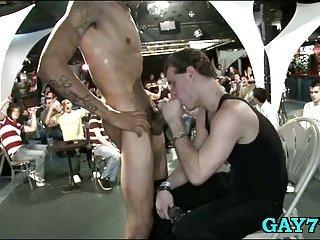 Gay freaks suck cock in public scene 2
