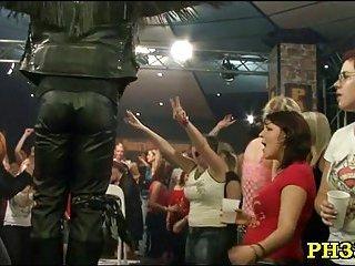 Tons of ladies sucking dicks scene 9