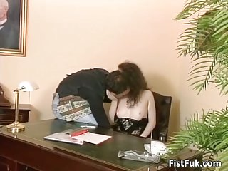 Two horny sluts are enjoying in hot office sex