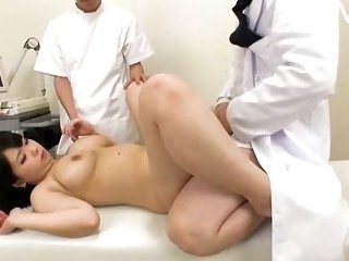 Dirty girlie plugged by doctor | Big Boobs Update