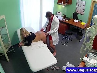 Bogus doctor pussy fucking patient doggystyle