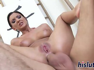 Sexy slut has her tight ass hammered